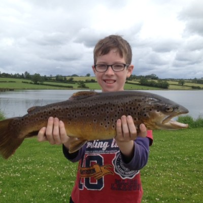BAC Juvenile Angler Corbet Lough Brown Trout 4lbs 7ozs 23 July 2015