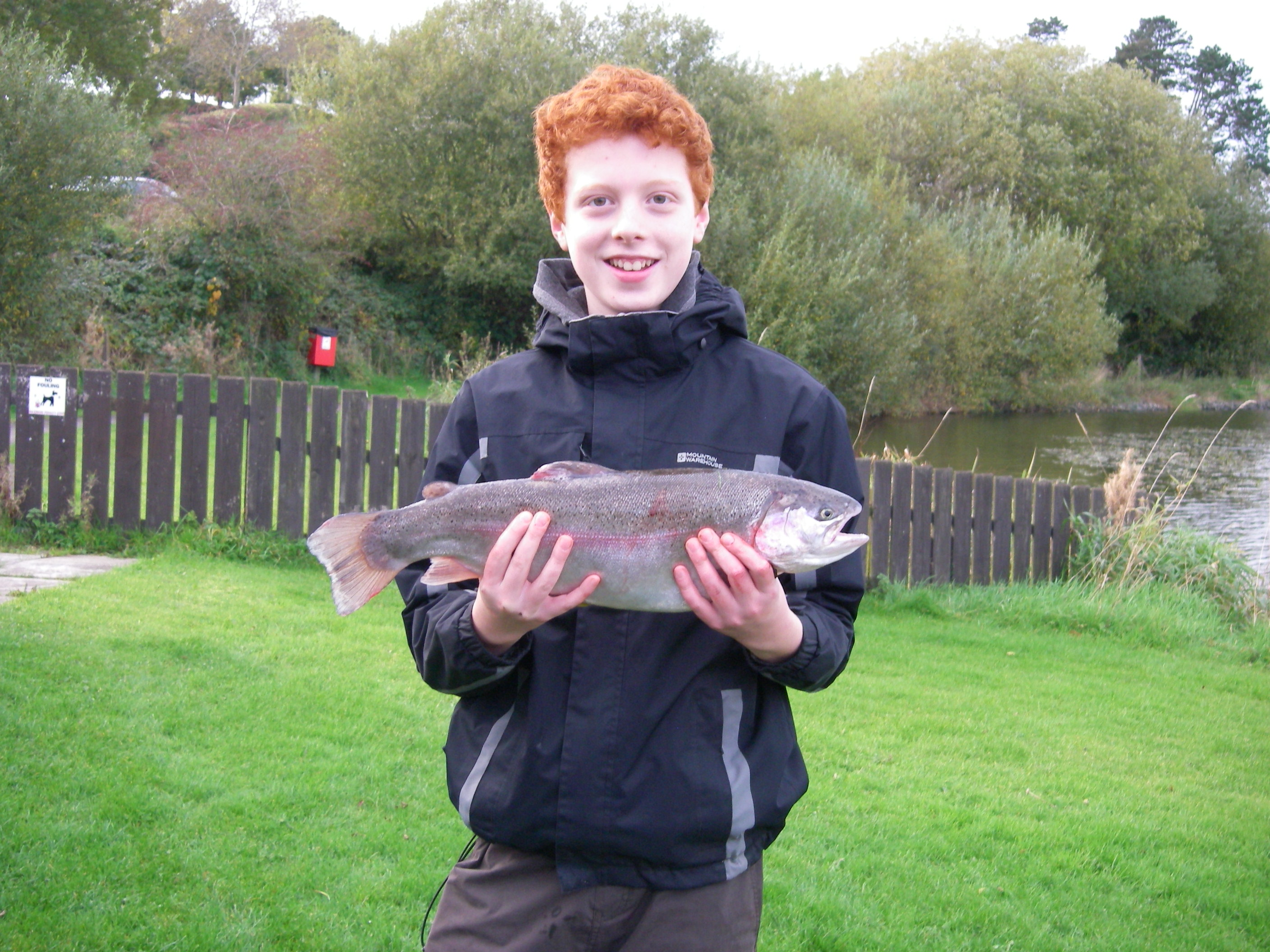 BAC Juvenile Angler with a Rainbow Trout 4lbs 14 ozs caught at the Corbet Lough on 22 October 2016