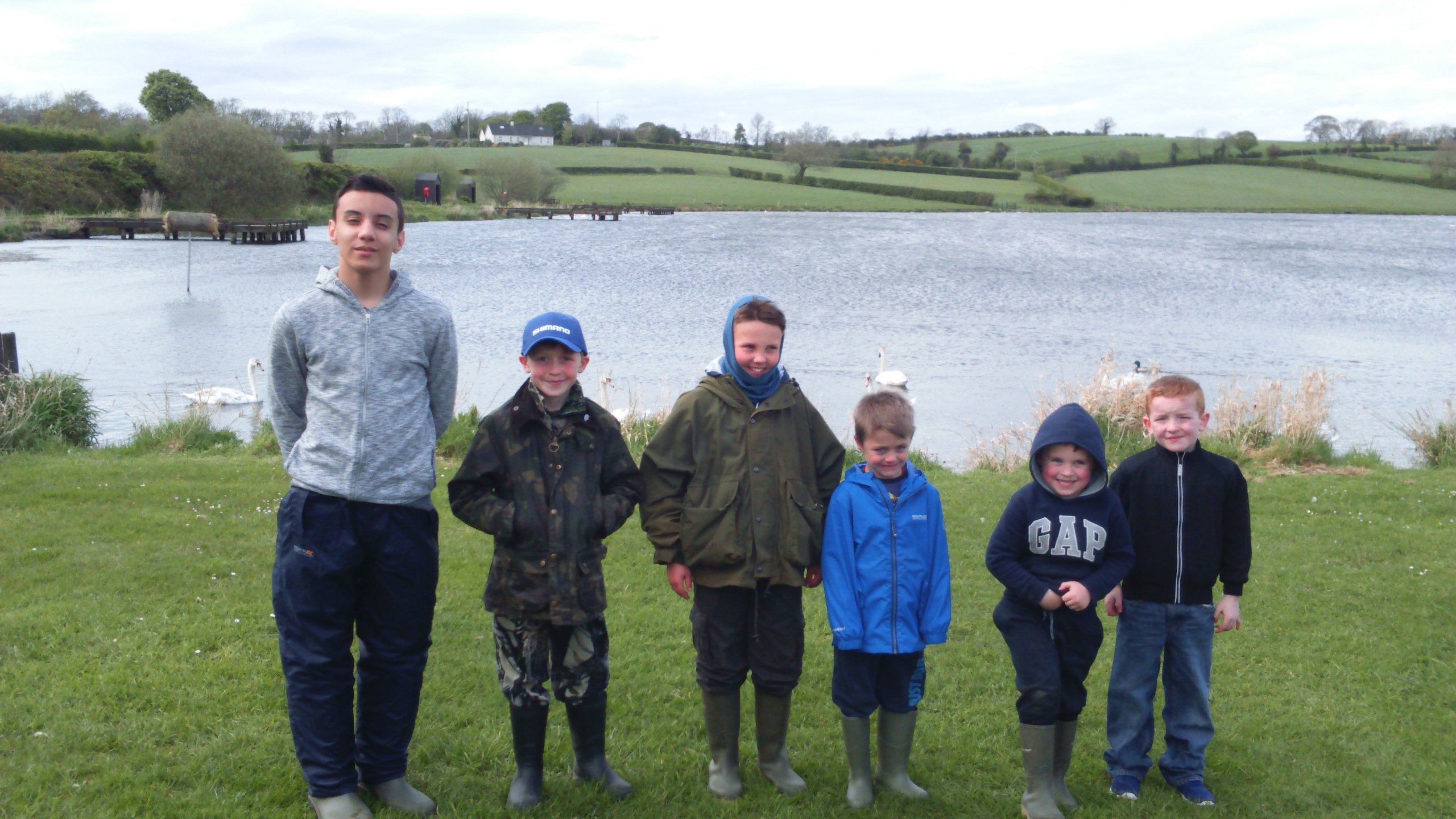 BAC Junior anglers who fished in the Percy Trophy at Corbet Lough on 29 April 2017