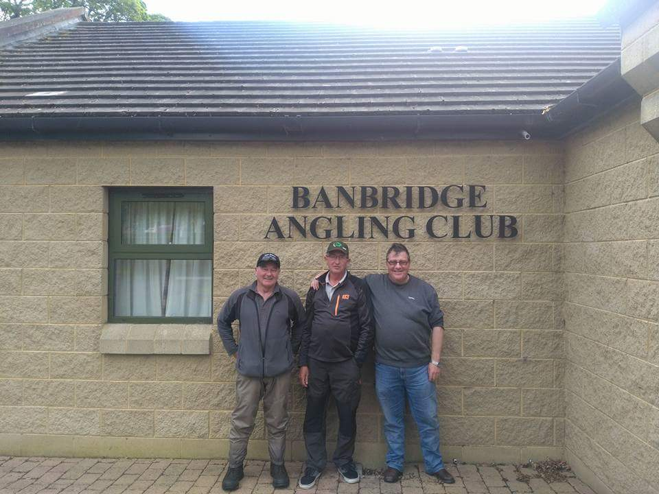 BAC Shooter Cup competition on River Bann on 13 May 2017 - Noel Burns 2nd, Colin Crothers 1st and Martin Dynes 3rd