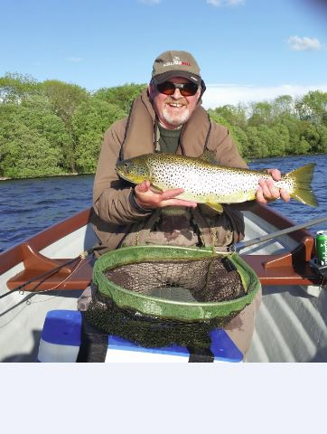 BAC Sheelin Gold Geoffrey Hylands with 6lb Brown caught at Lough Sheelin during Mayfly May 2016