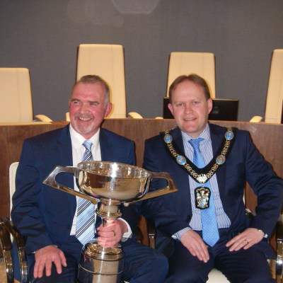 BAC Geoffrey Hylands Fly Fishing World Cup winner and Lord Mayor Gareth Wilson ABC Council Event on 8 February 2018