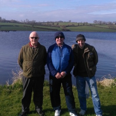 BAC Bruce Carson Trophy Competition at Corbet Lough on 14 April 2018. Wilson Clinghan 2nd, Derek Burns Winner and Dessie Graham 3rd