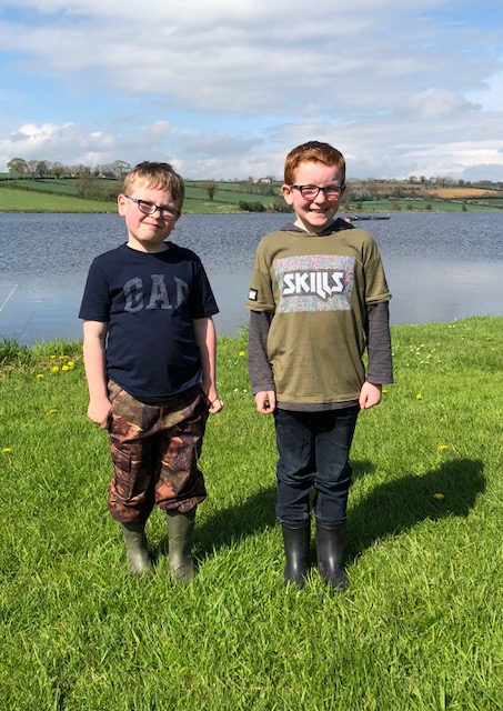BAC Junior Anglers at the Percy Trophy competition at Corbet Lough on Saturday 5 May 2018