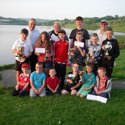 BAC Juvenile and Junior Anglers at the Prize Distribution Evening at Corbet Lough on 31 May 2018