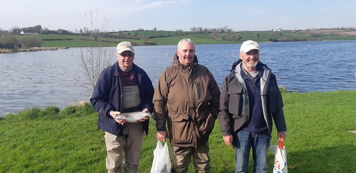 BAC Bruce Carson Trophy 2019 at Corbet Lough on 6 April 2019 - Henry McKnight 3rd, Leonard Ervine 1st and Geoff Hylands 2nd