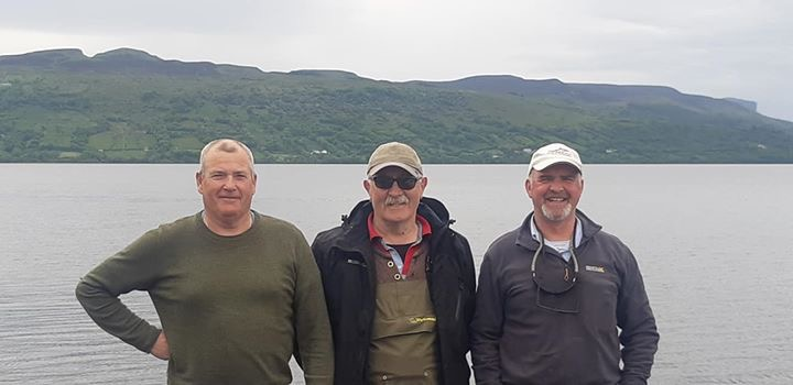 BAC - Straghan Cup, Lough Melvin, 1 June 2019 - Ivan McVeigh 2nd, Wilson Clinghan 1st and Geoff Hylands, 3rd