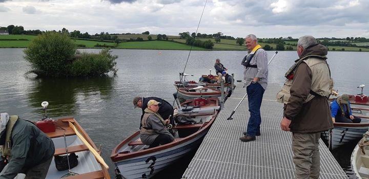 BAC Competition anglers getting ready for the Boat Anglers Cup and the Wardsworth Bethel Cup competitions at Corbet Lough on 21 June 2019