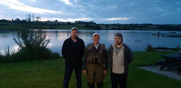 BAC The Boat Anglers Cup competition at Corbet Lough on 21 June 2019 Roger McClements 2nd, Geoff Hylands 1st and Keith Gibson 3rd