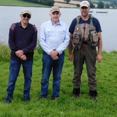 BAC - The Shooter Cup at the Corbet Lough on 3 August 2019 - Dessie Graham 2nd, Sam Grant 1st and Roger McClements 3rd