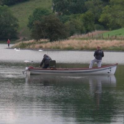 BAC Corbet Lough 29 July 2019 - Geoff Hylands and Damian Murtagh enjoying an evening boat fishing