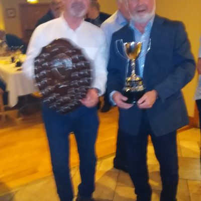 BAC - Geoff Hylands, Angler of the Year 2019 with Joe Curran winner of the Pyres Cup - 31 January 2020