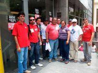 Funcionários do Banco do Brasil em Belém na greve