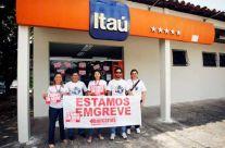 Sindicato garantindo a greve no Itaú