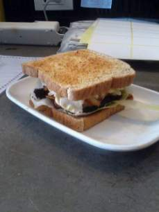 Toasted sandwich at Smarties Ban Chang