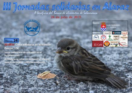 Cartel jornadas solidarias 2015 DIN A3 baja calidad
