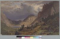 Bierstadt, Albert. Storm in the Rocky Mountains, Mount Rosalie, Colorado, 1866. BANC PIC 1963.002:0503--E. Courtesy of The Bancroft Library, University of California, Berkeley ONLINE