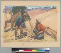 Dixon, Maynard. Finding it (19--). BANC PIC 1963.002:0275--A. Courtesy of The Bancroft Library, University of California, Berkeley Online