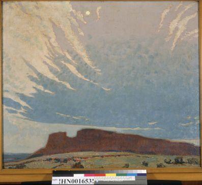 Dixon, Maynard. September moonlight (1921). BANC PIC 1963.002:1367--FR. Courtesy of The Bancroft Library, University of California, Berkeley Online