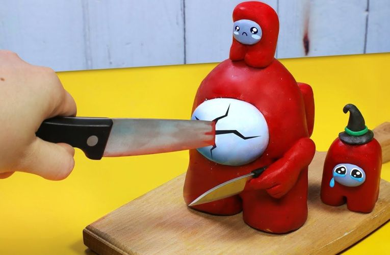 AMONG US, but They're All Food #1 – Stop Motion Cooking & ASMR Funny Videos