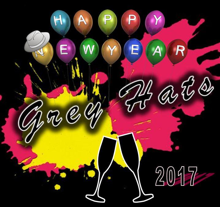 Happy New Year 2017 Wünschen Die Grey Hats Grey Hats