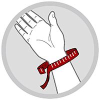 Håndledsbandage med skinne og 5 velcrolukninger