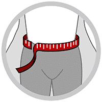 Rygbandage med 2 store elastikker og små skinner