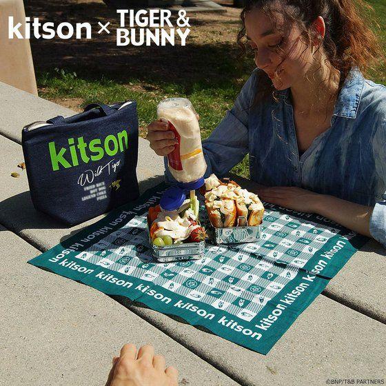 kitson × TIGER & BUNNY ランチバッグ ※オリジナルハンカチ付き アニメ・キャラクターグッズ新作情報・予約開始速報