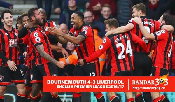 Gol kemenangan Bournemouth atas Liverpool EPL 2016