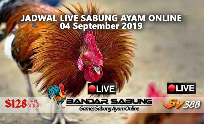 Jadwal Sabung Ayam Online S128 Dan SV388 04 September 2019