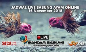 jadwal sabung ayam online s128 dan sv388 16 november 2018