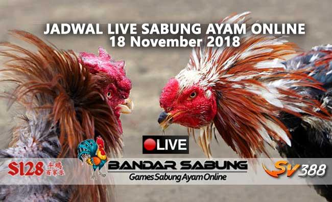 jadwal sabung ayam online s128 dan sv388 18 november 2018
