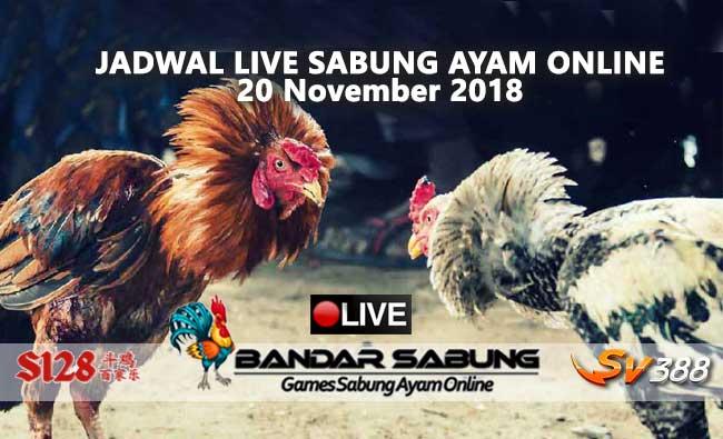 jadwal sabung ayam online s128 dan sv388 20 november 2018