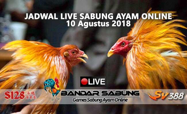 Jadwal Sabung Ayam Online S128 Dan SV388 10 Agustus 2018