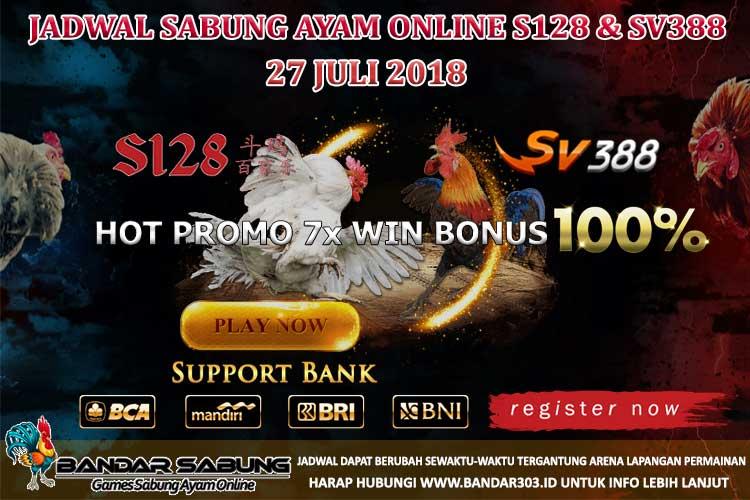 Jadwal Sabung Ayam Online S128 Dan SV388 27 Juli 2018