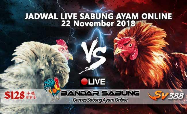 jadwal sabung ayam online s128 dan sv388 22 november 2018