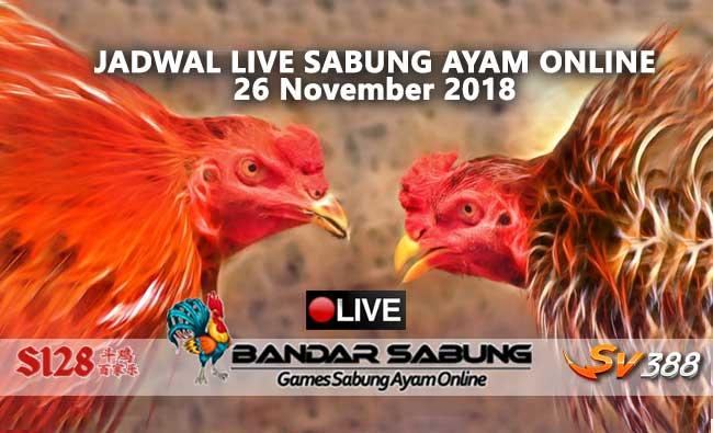 jadwal sabung ayam online s128 dan sv388 26 november 2018