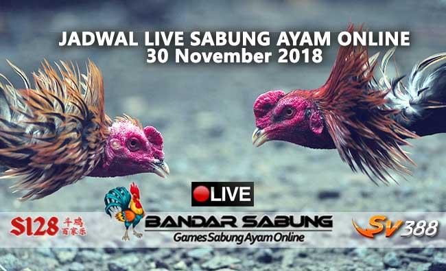 jadwal sabung ayam online s128 dan sv388 30 november 2018