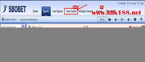 Login Sbobet Live Casino