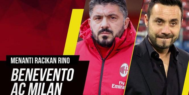 Fakta dan Data Serie A Benevento Vs AC Milan 03 Desember