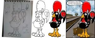Esboço-cock