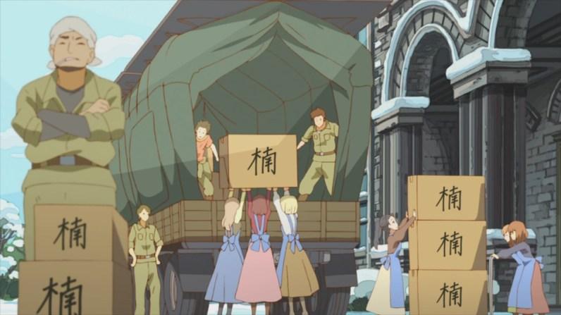 FIGURA 14. De cima para baixo: produção, impressão e distribuição de douruishi.
