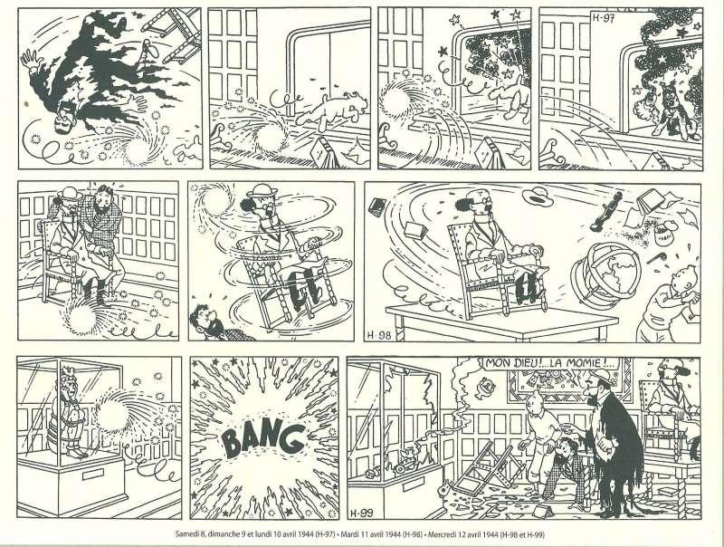 Hergé - As 7 bolas de cristal, tiras originais
