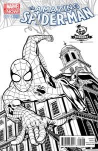 Amazing_Spider-Man_Vol_3_1_Newbury_Comics_Black_and_White_Variant