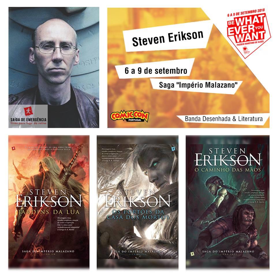 Steven Erikson na Comic Con PT 2018