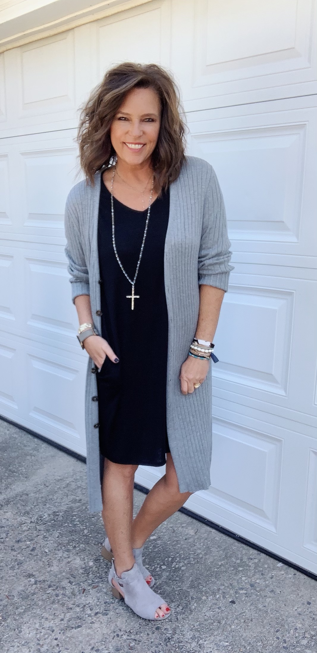 How To Wear A Long Cardigan With A Dress | B and B Blog