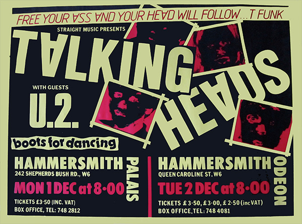 Boots for Dancing, Hammersmith gig poster