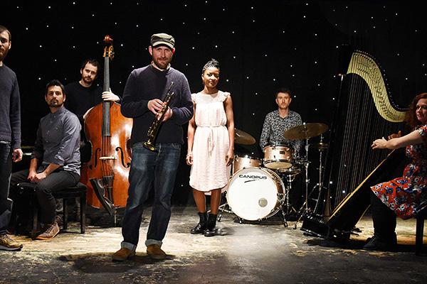 Matthew Halsall and The Gondwana Orchestra photo by Simon Hunt