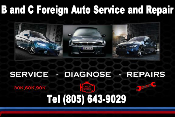 B&C Foreign Car Repair Service Banner