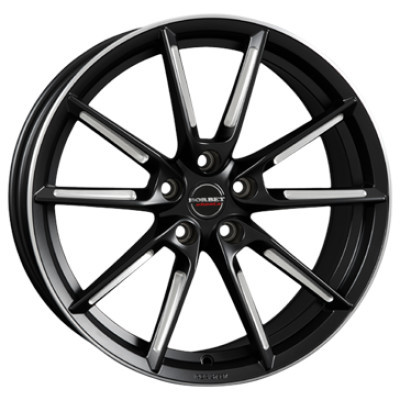 BORBET LX black matt spoke rim polished